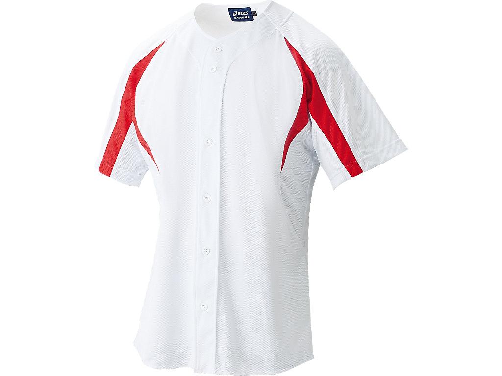 ゲームシャツ:ホワイト×レッド