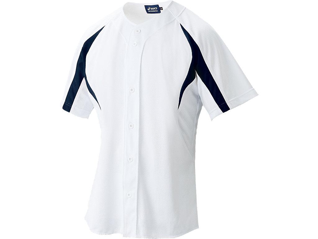 ゲームシャツ:ホワイト×ネイビー