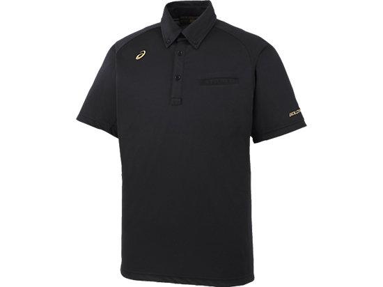 [ゴールドステージ]ボタンダウンシャツ, ブラック