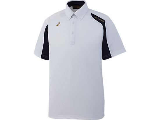 [ゴールドステージ]ボタンダウンシャツ, ホワイト×ネイビー