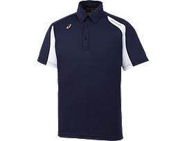 [ゴールドステージ]ボタンダウンシャツ, ネイビーブルー×ホワイト