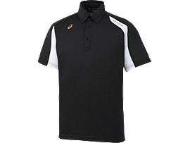 [ゴールドステージ]ボタンダウンシャツ, ブラックxホワイト