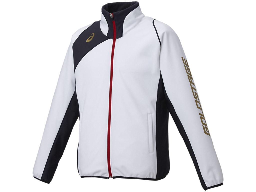 [ゴールドステージ]ブレードフィールドジャケット:ホワイト×ネイビー