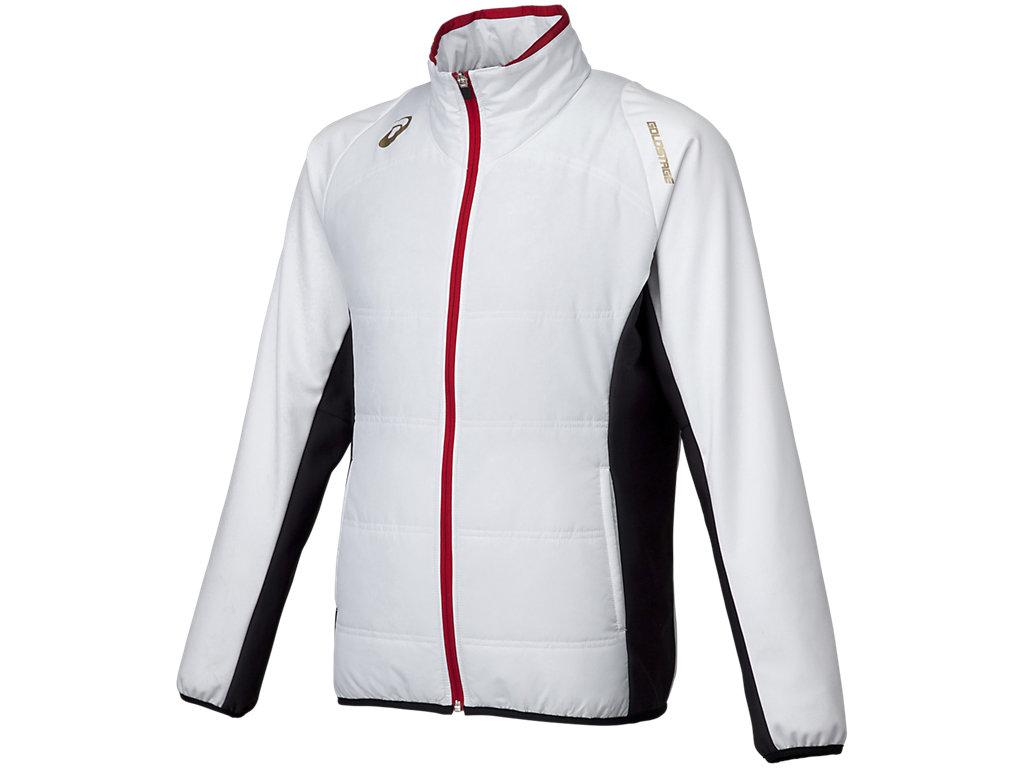 [ゴールドステージ]ブレードキルトジャケット:ホワイト×ネイビー