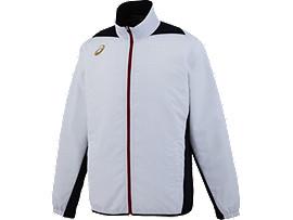 [ゴールドステージ]クロスアップジャケットLS, ホワイト×ネイビー
