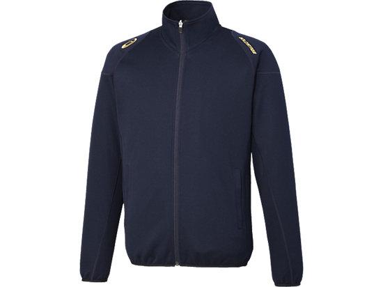 [ゴールドステージ] ウオームアップシャツ, ネイビーブルー×ネイビーブルー