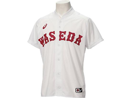 ベースボールレプリカユニフォームシャツ, ホワイト