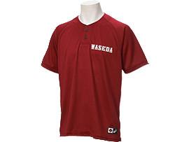 Front Top view of ベースボールレプリカシャツ, Wレッド