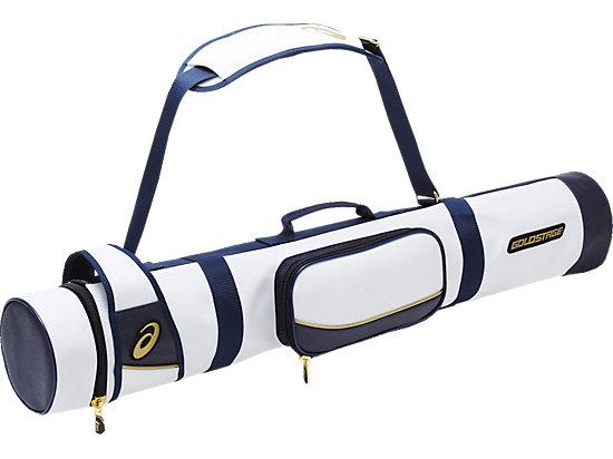 ゴールドステージ  バットケース(3本用), ホワイト×ネイビー