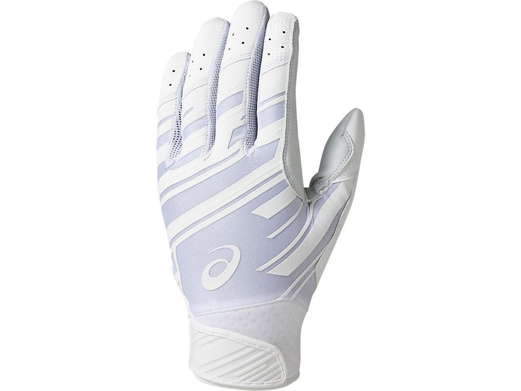 バッティング用手袋(両手):ホワイト×ホワイト