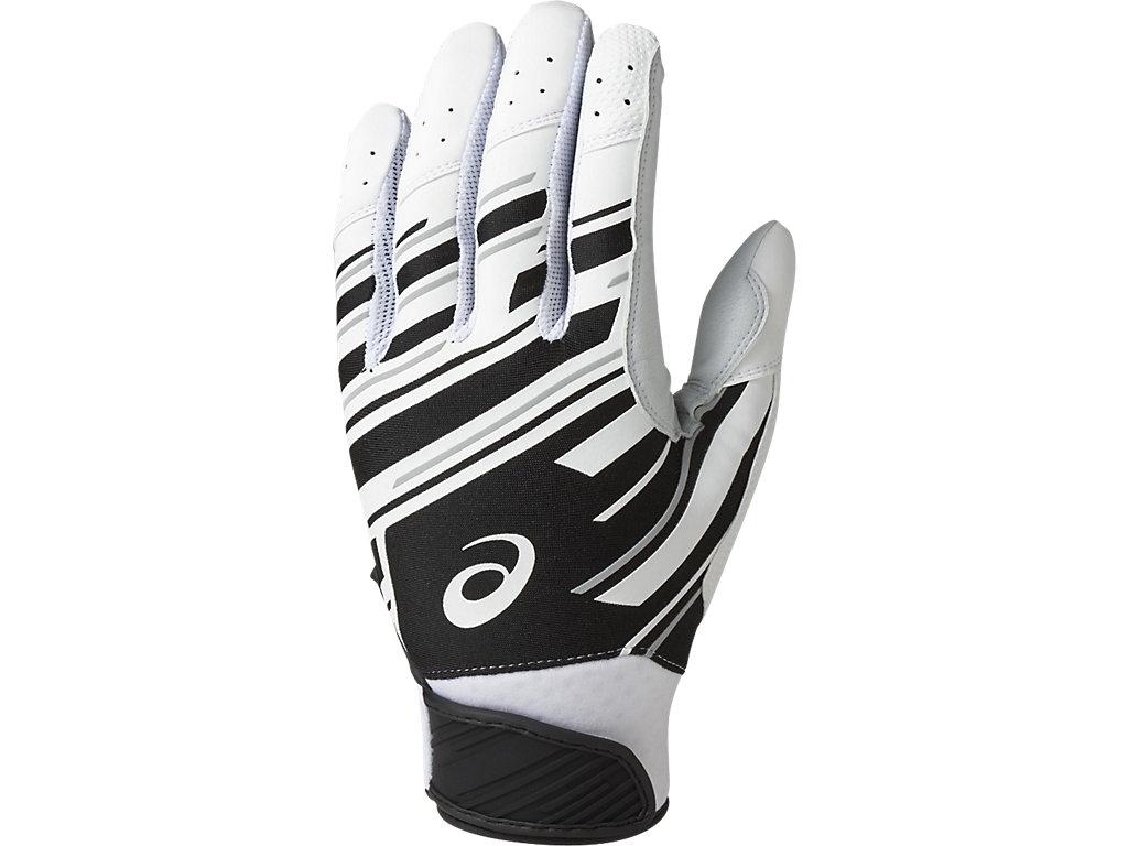 バッティング用手袋(両手):ホワイト×ブラック