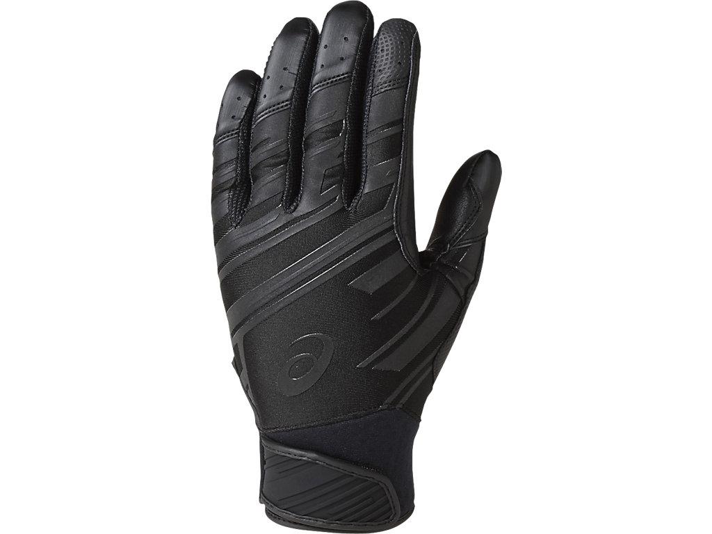 バッティング用手袋(両手):ブラック×ブラック