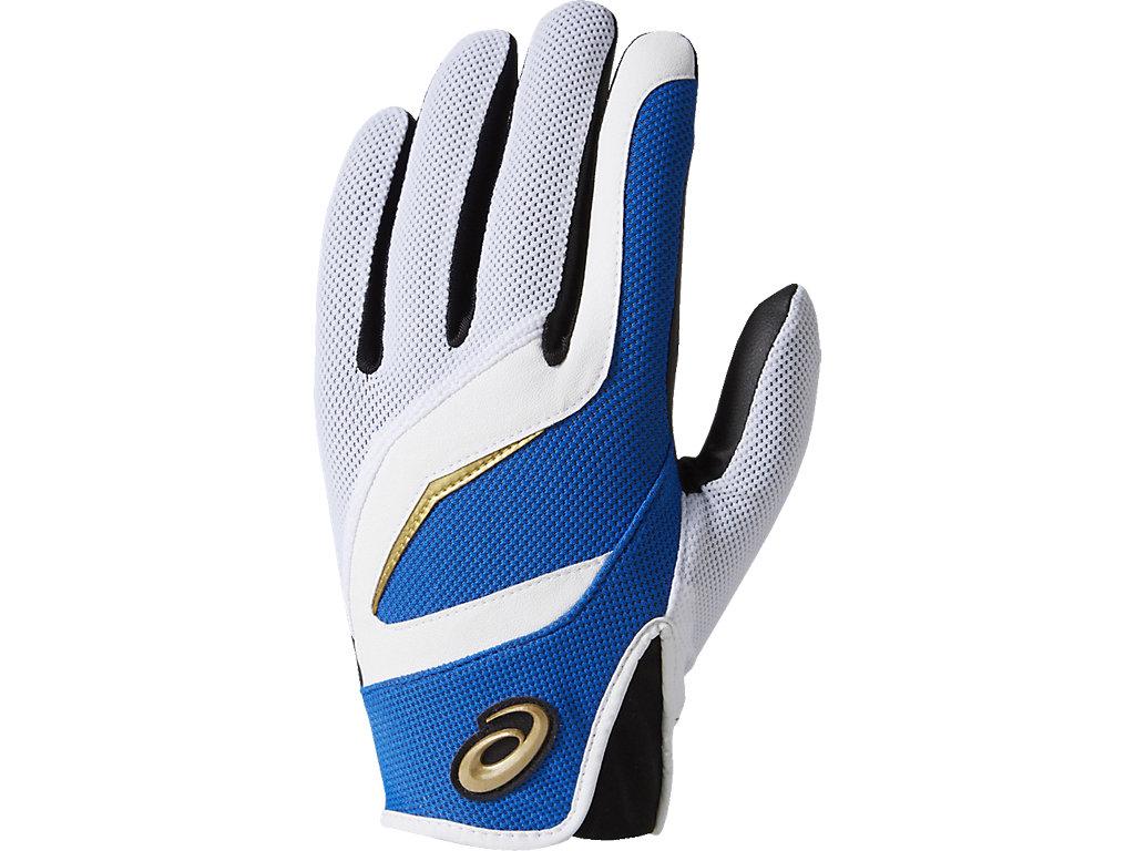 [ゴールドステージ]守備用手袋(片手):ホワイト×ロイヤル