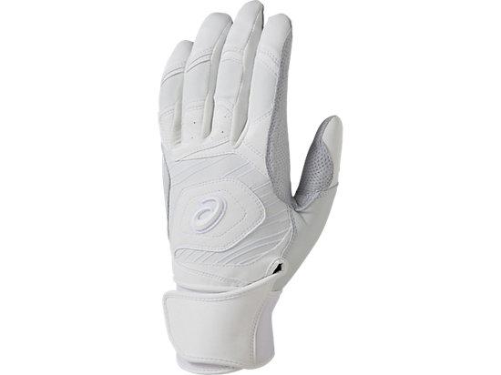 [ゴールドステージ]SPEED AXEL バッティング用手袋(両手), WHITE/WHITE/CARBON