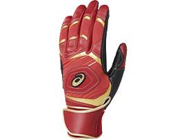 [ゴールドステージ]SPEED AXEL バッティング用手袋(両手), CLASSIC RED/CLASSIC RED/BLACK