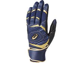 [ゴールドステージ]SPEED AXEL バッティング用手袋(両手), ネイビーブルー×ネイビーブルー