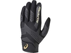 [ゴールドステージ]SPEED AXEL 守備用手袋(片手), ブラック×ゴールド