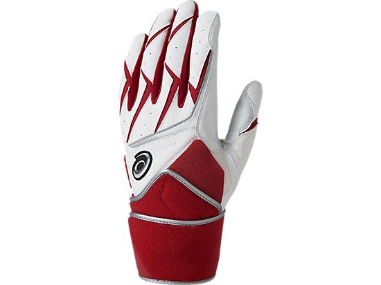バッティング用手袋(両手), ホワイトxレッド