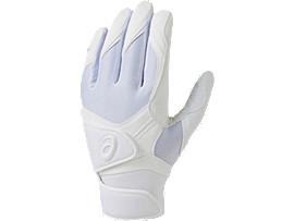 バッティング用手袋(両手), WHITE/WHITE/CARBON