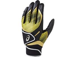 バッティング用手袋(両手), ブラック×ゴールド