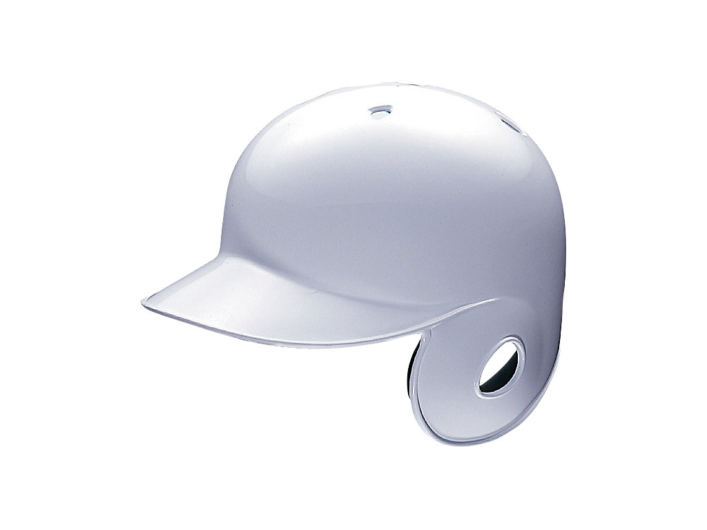 軟式用バッティングヘルメット(右打者用):ホワイト