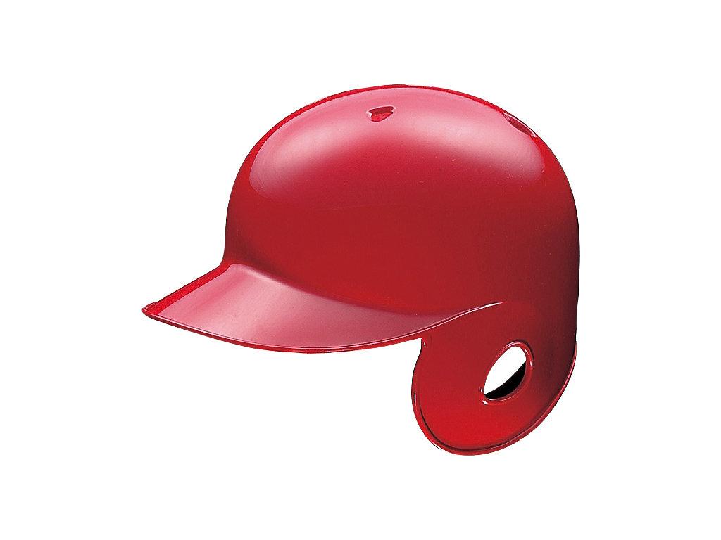軟式用バッティングヘルメット(右打者用):レッド