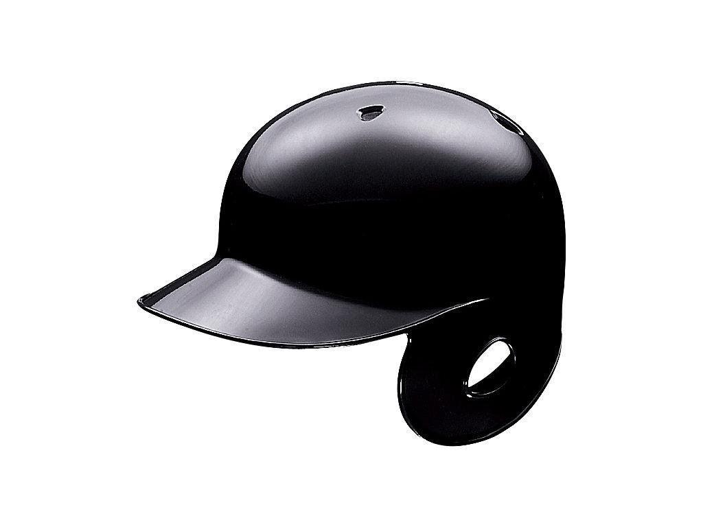 軟式用バッティングヘルメット(右打者用):ブラック