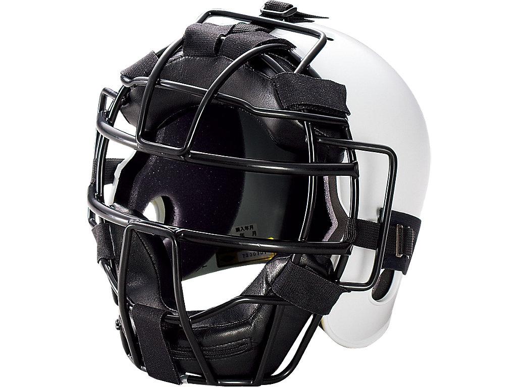 ジュニア硬式用キャッチャーズヘルメット:ホワイト