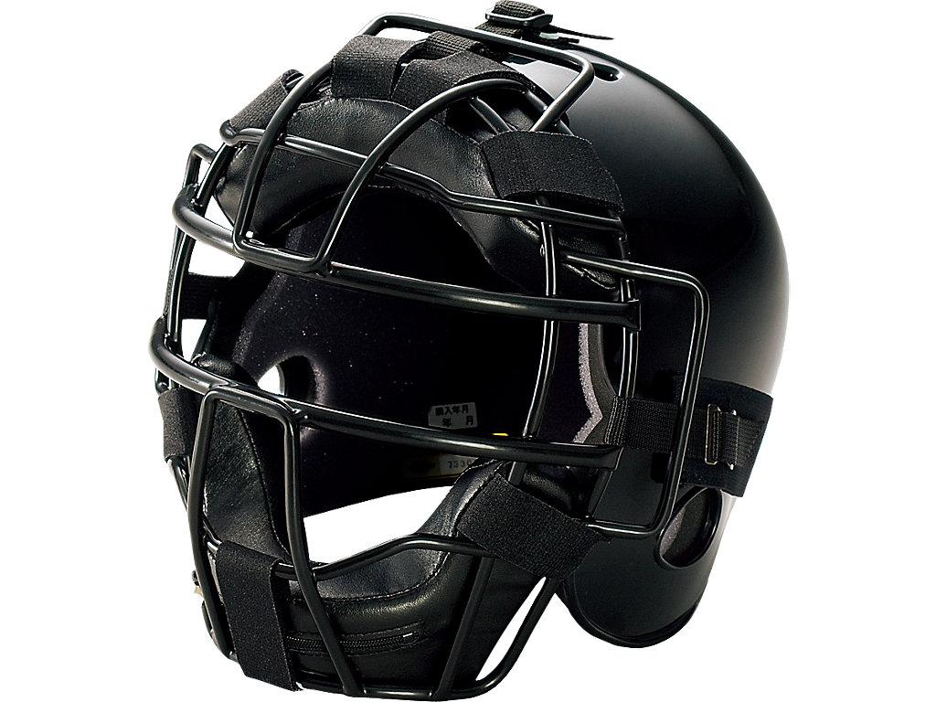 ジュニア硬式用キャッチャーズヘルメット:ブラック