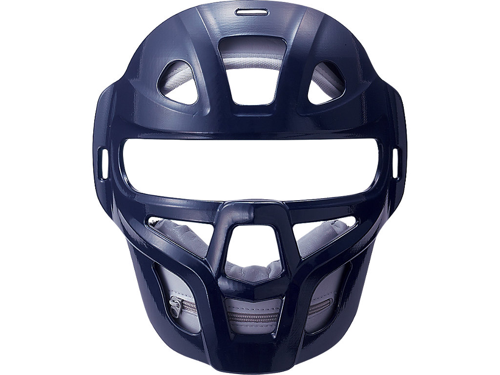 ジュニア軟式用マスク(C・D号ボール対応):ネイビー×シルバー