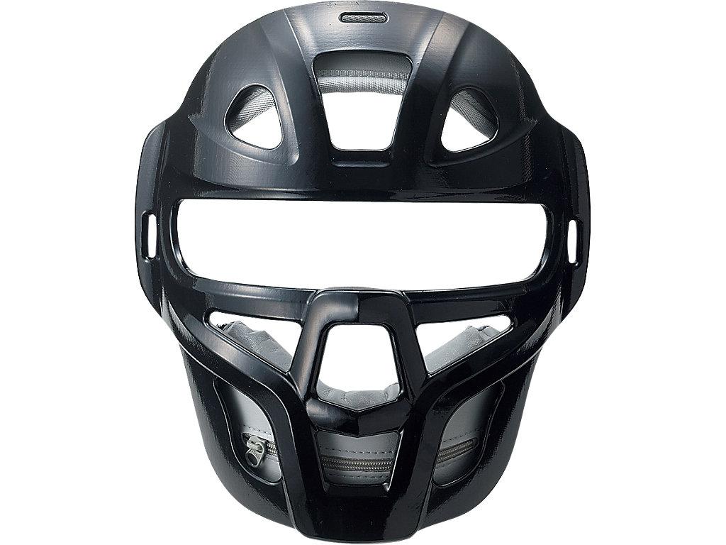 ジュニア軟式用マスク(C・D号ボール対応):ブラック×シルバー