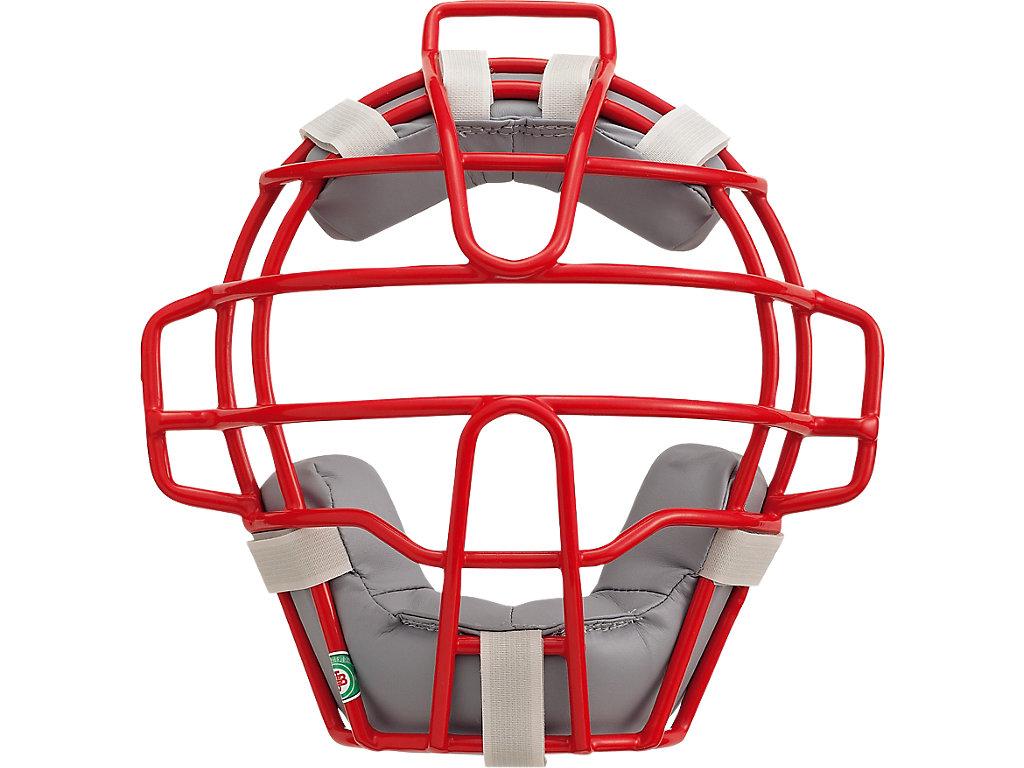 ジュニア軟式用マスク(C・D号ボール対応):レッド×シルバー
