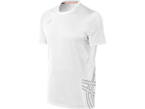 ASICS Team Performance VB Short Sleeve White/White 3