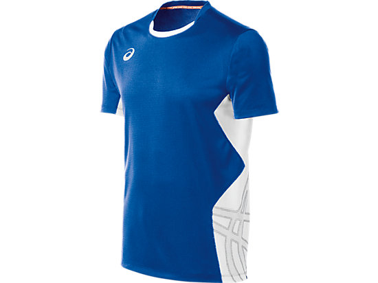 ASICS Team Performance VB Short Sleeve Royal/White 3