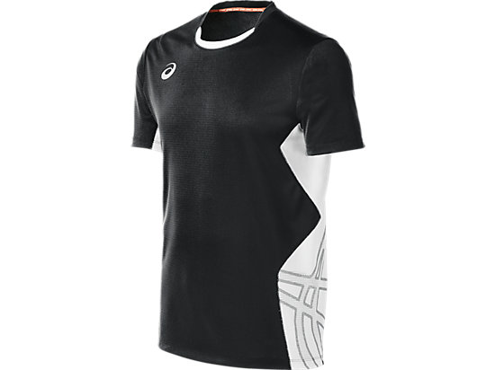ASICS Team Performance VB Short Sleeve Black/White 3