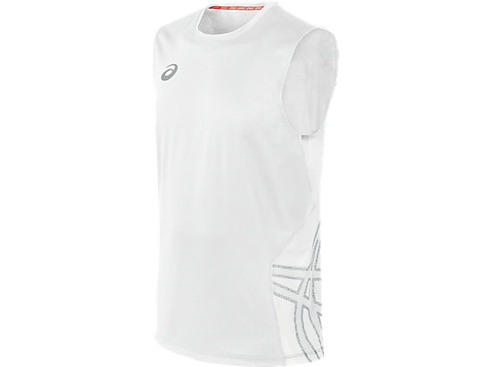 ASICS Team Performance VB Sleeveless White/White 3
