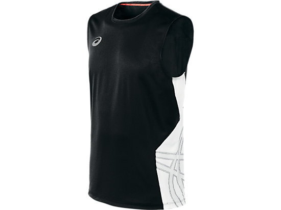 ASICS Team Performance VB Sleeveless Black/White 3