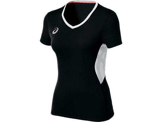 ASICS Team Performance VB Short Sleeve Black/White 3