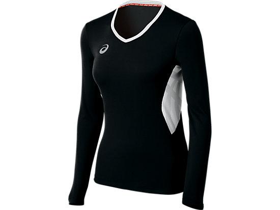 ASICS Team Performance VB Long Sleeve Black/White 3