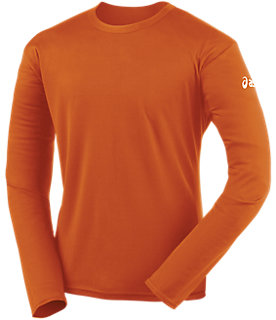 Circuit-7 Warm-Up Long Sleeve Shirt | Men | Orange | ASICS US