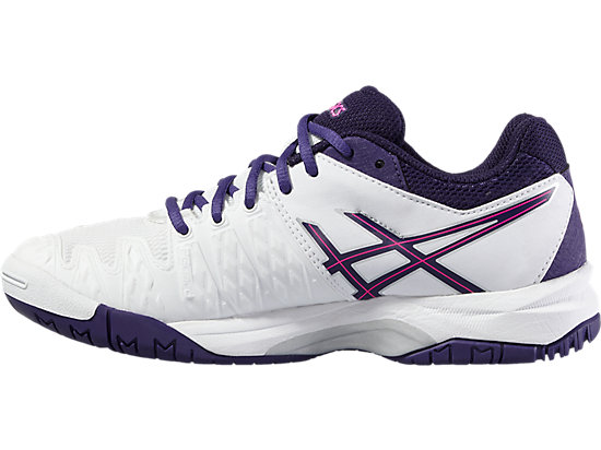 GEL-RESOLUTION 6 GS WHITE/PARACHUTE PURPLE/HOT PINK 11