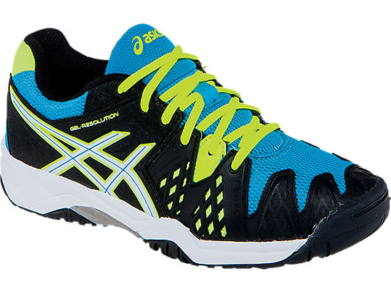 GEL-Resolution 6 GS Onyx/White/Atomic Blue 7