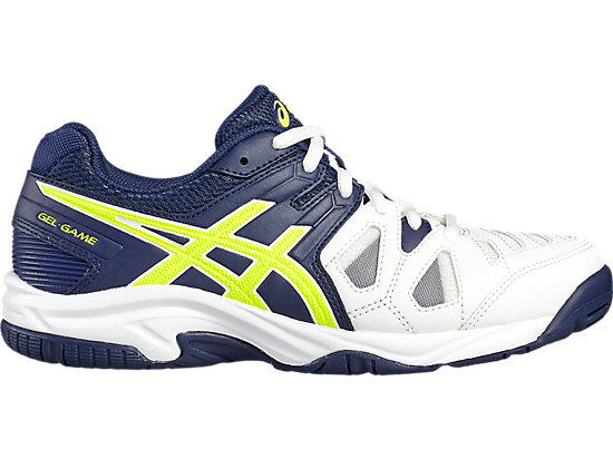 GEL-GAME 5 GS, White/Indigo Blue/Safety Yellow