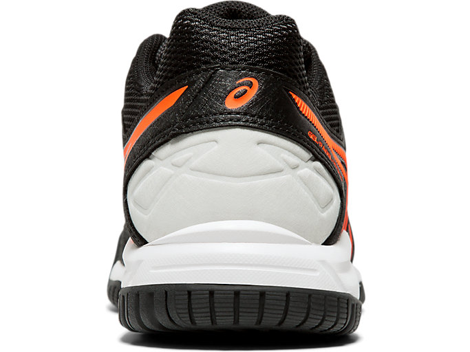 Back view of GEL-PADEL™ PRO 3 GS, BLACK/FLASH CORAL