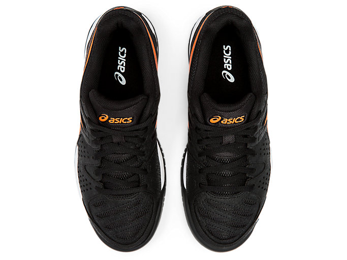 Top view of GEL-PADEL™ PRO 3 GS, BLACK/FLASH CORAL