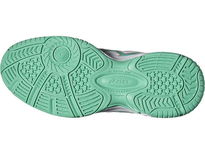 Bottom view of GEL-PADEL™ PRO 3 GS, WHITE/COCKATOO/FLASH CORAL
