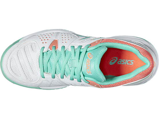 GEL-PADEL PRO 3 GS WHITE/COCKATOO/FLASH CORAL 19