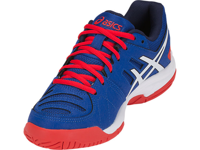 Front Left view of GEL-PADEL PRO 3 GS, ASICS BLUE/WHITE
