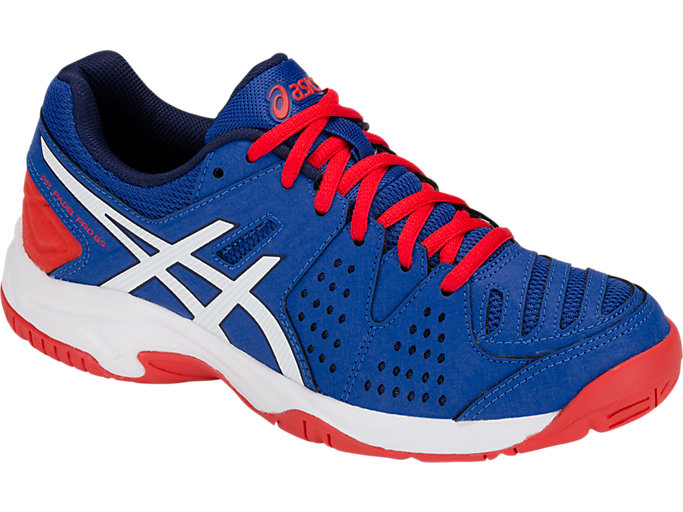 Front Right view of GEL-PADEL PRO 3 GS, ASICS BLUE/WHITE