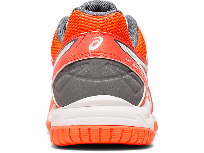 Back view of GEL-PADEL PRO 3 GS, FLASH CORAL/WHITE